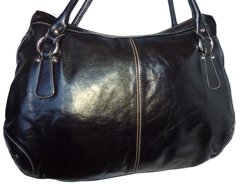 Стильная большая сумка натуральная кожа l credi италия - Фото 2