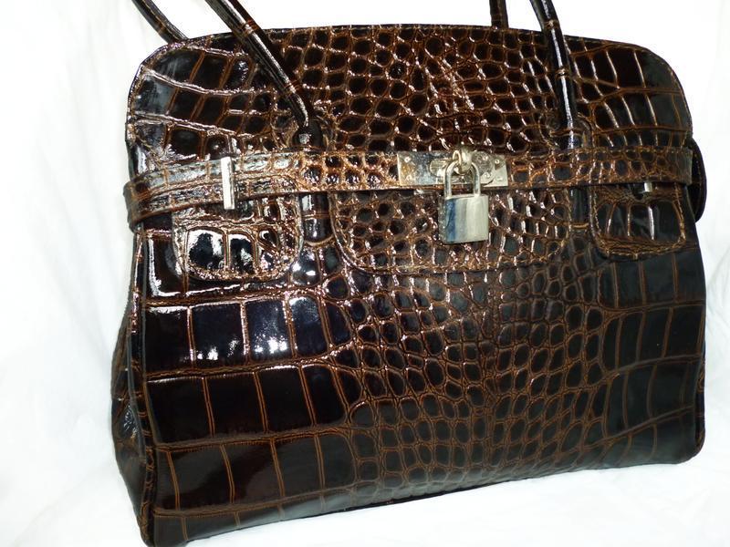 Стильная вместительная  сумка натуральная кожа borse in pele  ...
