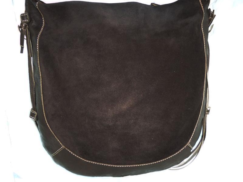 Стильная большая сумка натуральная кожа navyboot - Фото 3
