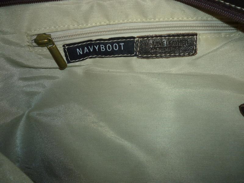 Стильная большая сумка натуральная кожа navyboot - Фото 6