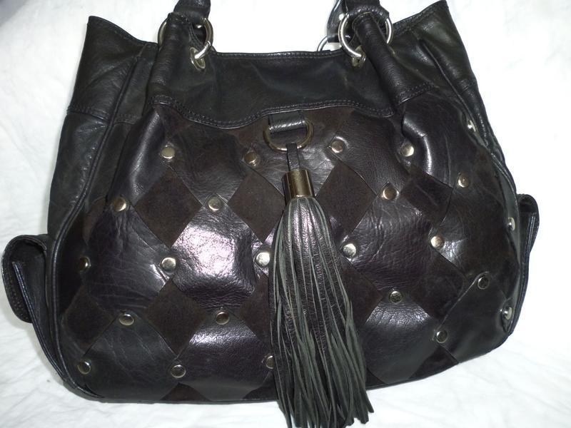 Стильная большая сумка натуральная кожа lloud baker