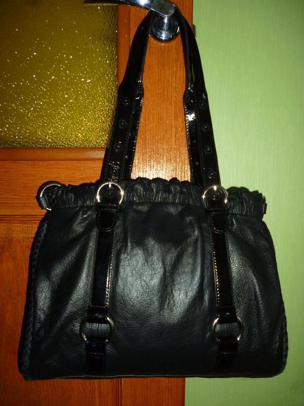 Шикарная большая сумка натуральная кожа viyella - италия - Фото 2