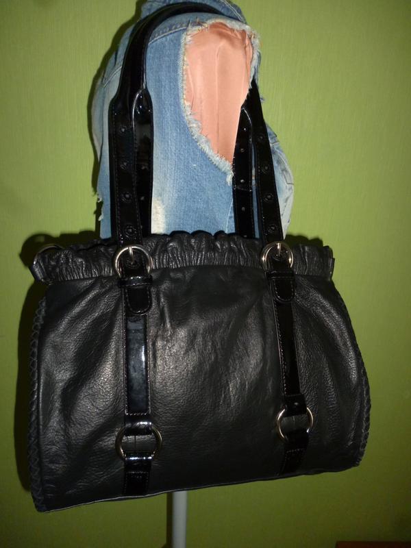 Шикарная большая сумка натуральная кожа viyella - италия - Фото 3
