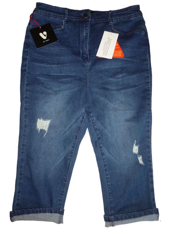Стильные летние укороченные джинсы с высокой талией by bery