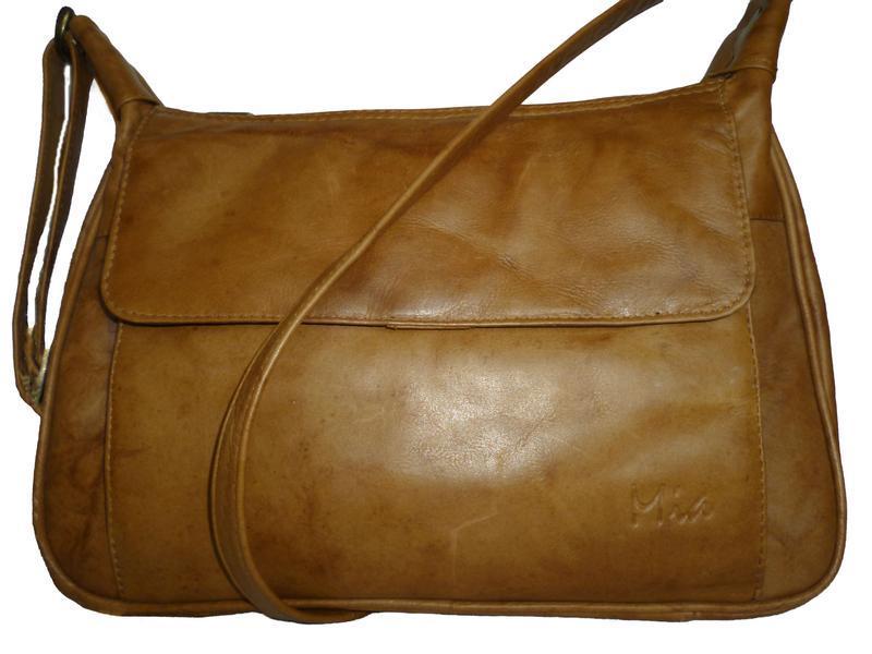 Стильная вместительная сумка натуральная кожа mia