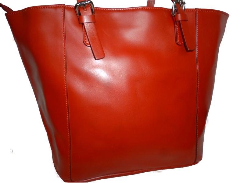 Шикарная большая сумка натуральная кожа