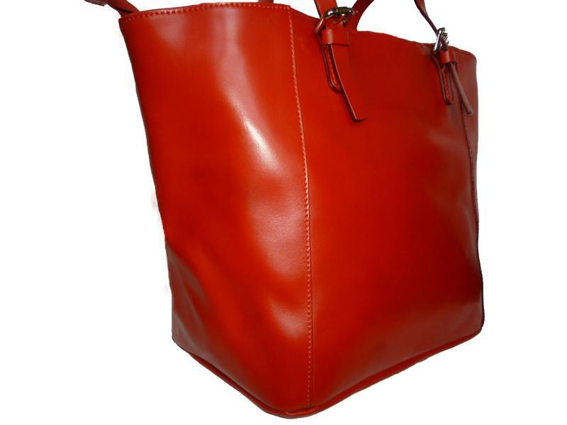 Шикарная большая сумка натуральная кожа - Фото 3