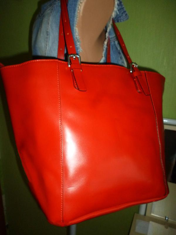 Шикарная большая сумка натуральная кожа - Фото 4