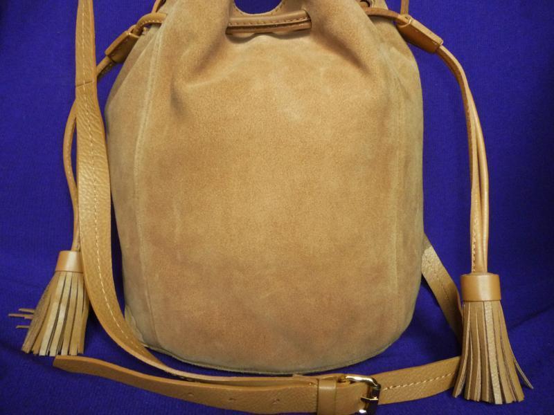 Стильная вместительная сумка натуральная кожа mint&berry