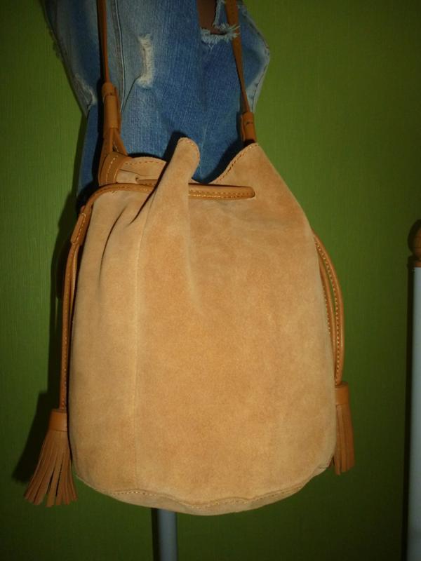 Стильная вместительная сумка натуральная кожа mint&berry - Фото 4