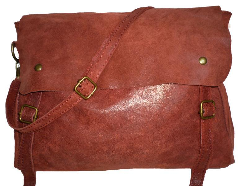 Стильная вместительная  сумка натуральная кожа borse in pelle ...