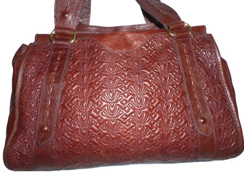 Элегантная вместительная винтажная сумка натуральная кожа tossi - Фото 2