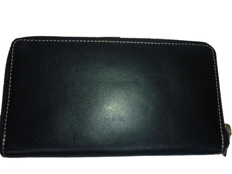 Стильный обьемный кошелек натуральная кожа golunski - Фото 3