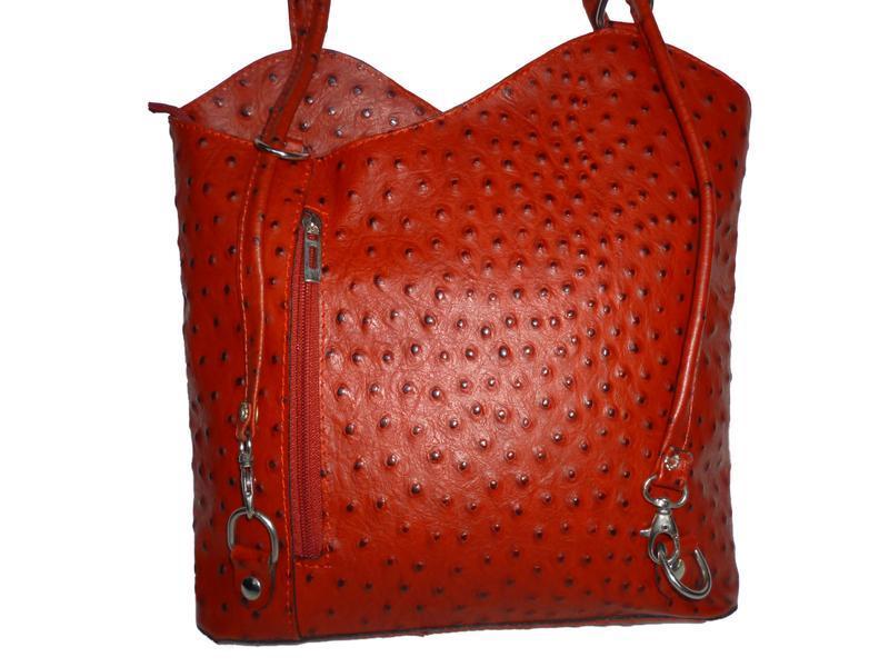 Стильная вместительная сумка натуральная кожа borse in pelle  ... - Фото 3