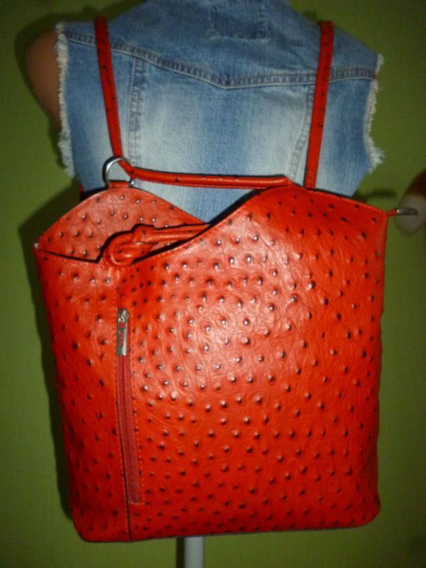 Стильная вместительная сумка натуральная кожа borse in pelle  ... - Фото 5