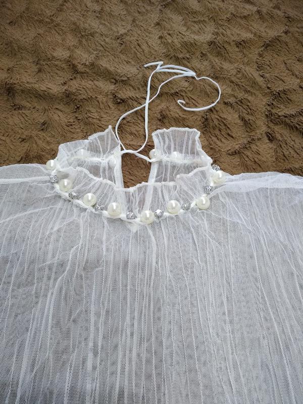 Женская блуза с жемчугом - Фото 3