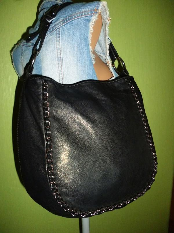 Стильная вместительная сумка натуральная кожа - Фото 4