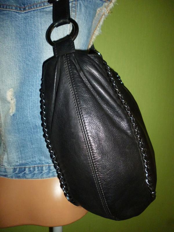 Стильная вместительная сумка натуральная кожа - Фото 5