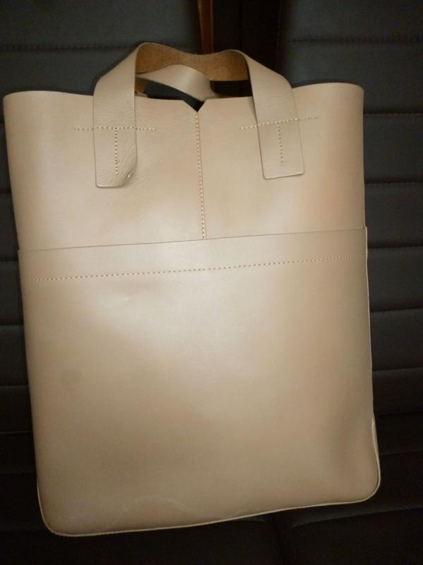 Стильная большая сумка шоппер натуральная кожа