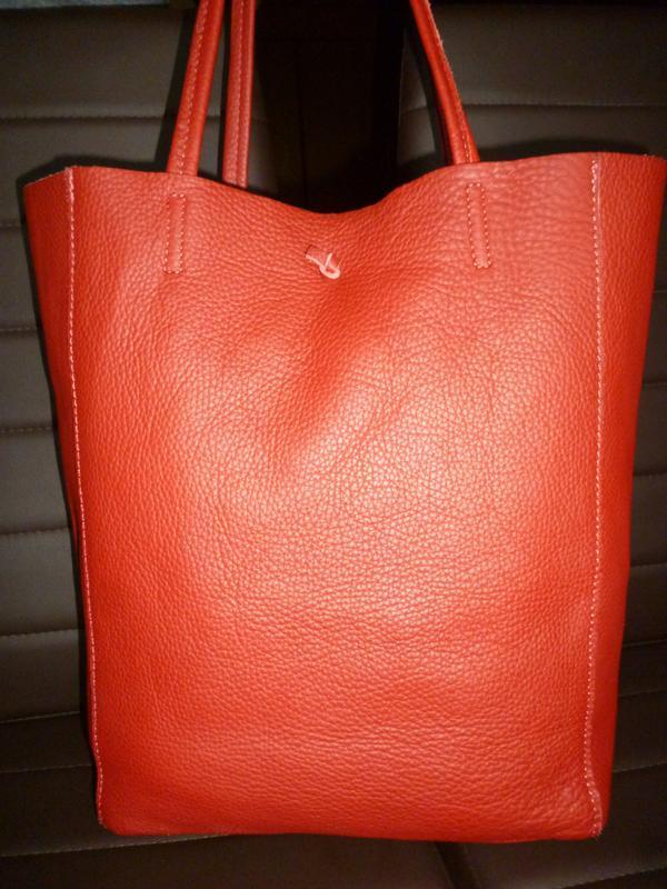 Шикарная большая сумка шоппер натуральная кожа  borse in pelle...