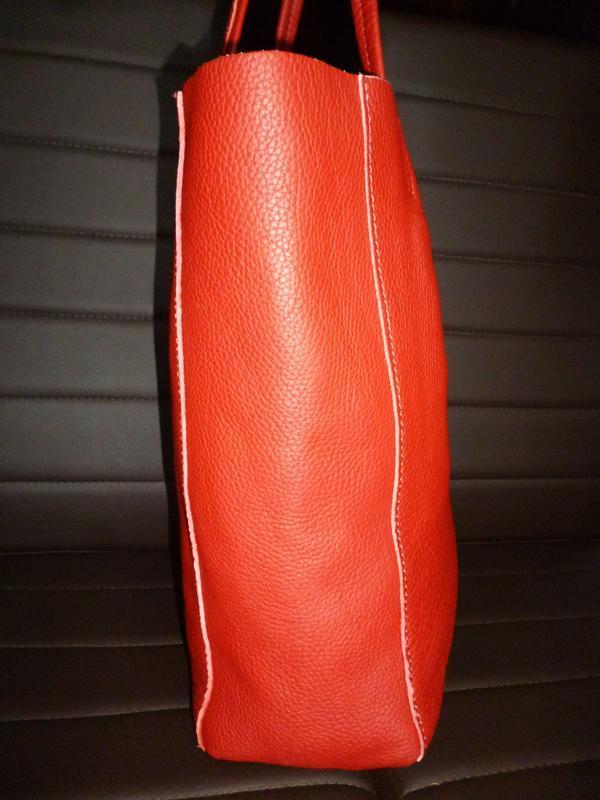 Шикарная большая сумка шоппер натуральная кожа  borse in pelle... - Фото 2