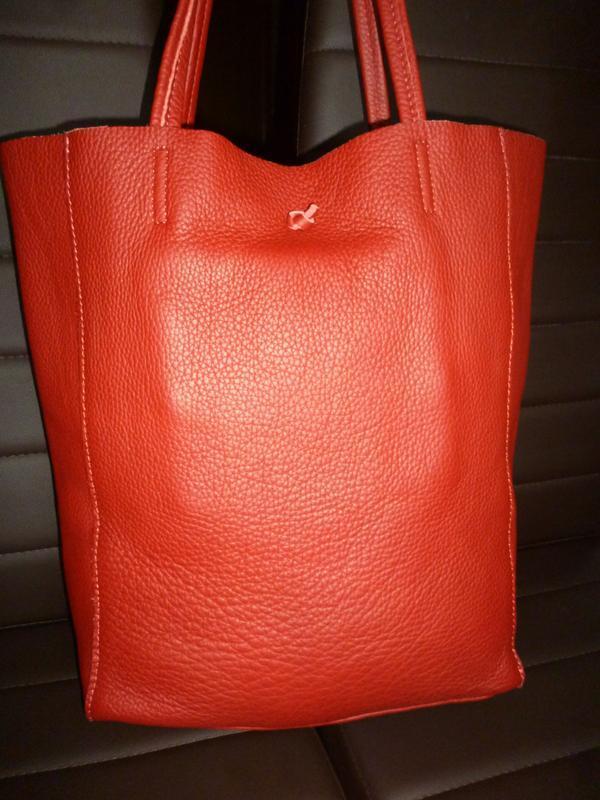 Шикарная большая сумка шоппер натуральная кожа  borse in pelle... - Фото 3