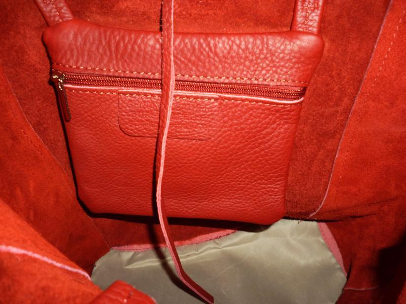 Шикарная большая сумка шоппер натуральная кожа  borse in pelle... - Фото 6