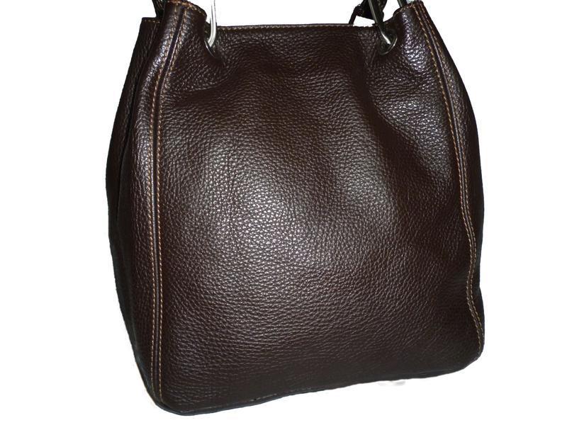 Стильная обьемная сумка натуральная кожа maxima италия