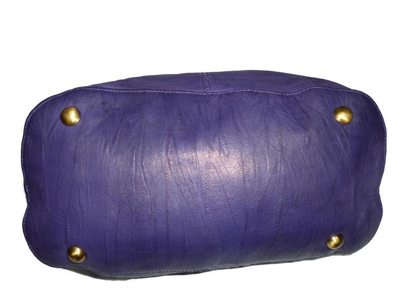 Стильная большая сумка натуральная кожа topshop - Фото 2