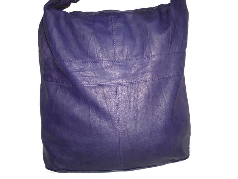 Стильная большая сумка натуральная кожа topshop - Фото 3