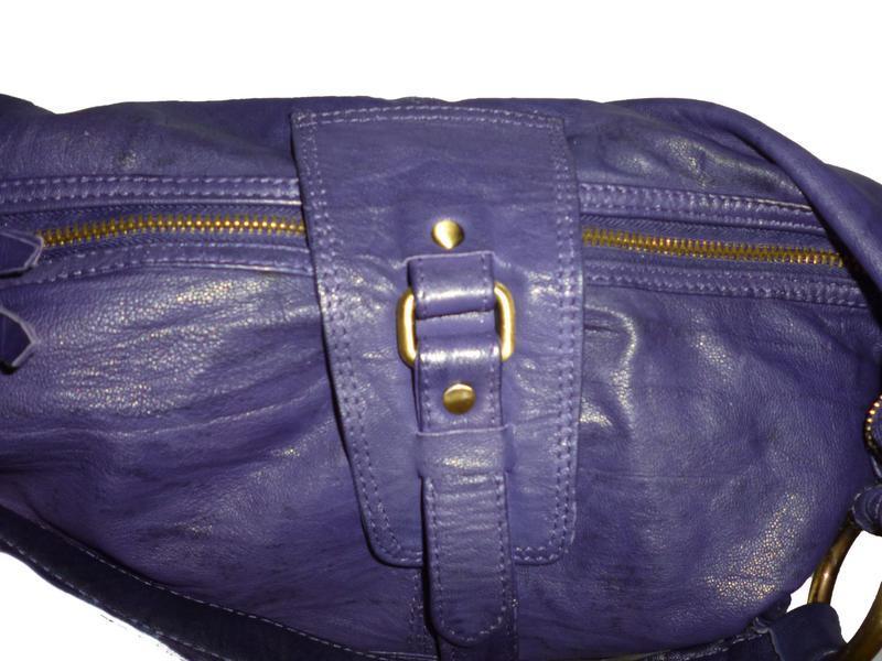 Стильная большая сумка натуральная кожа topshop - Фото 4