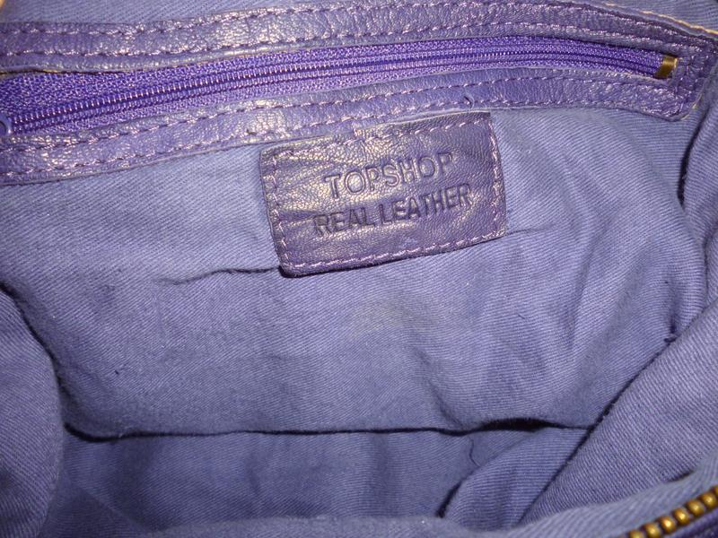 Стильная большая сумка натуральная кожа topshop - Фото 7