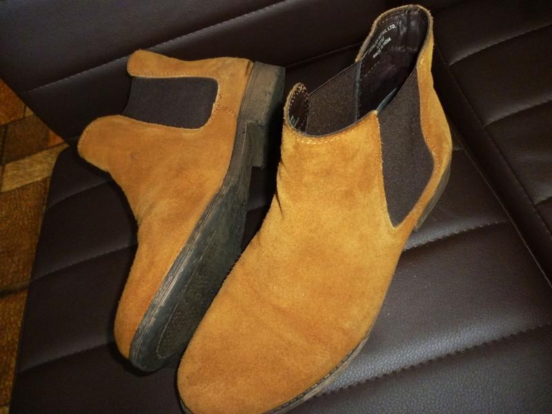 Стильные ботинки челси натуральная замшевая кожа