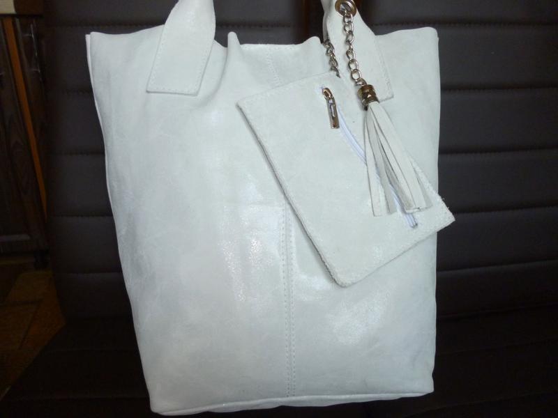 Шикарная большая сумка шоппер натуральная кожа borse in pelle