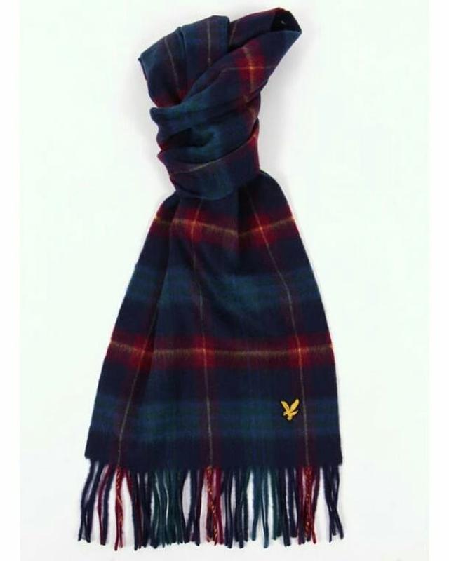 Шерстяной шарф дорогого бренда lyle&scott. - Фото 2
