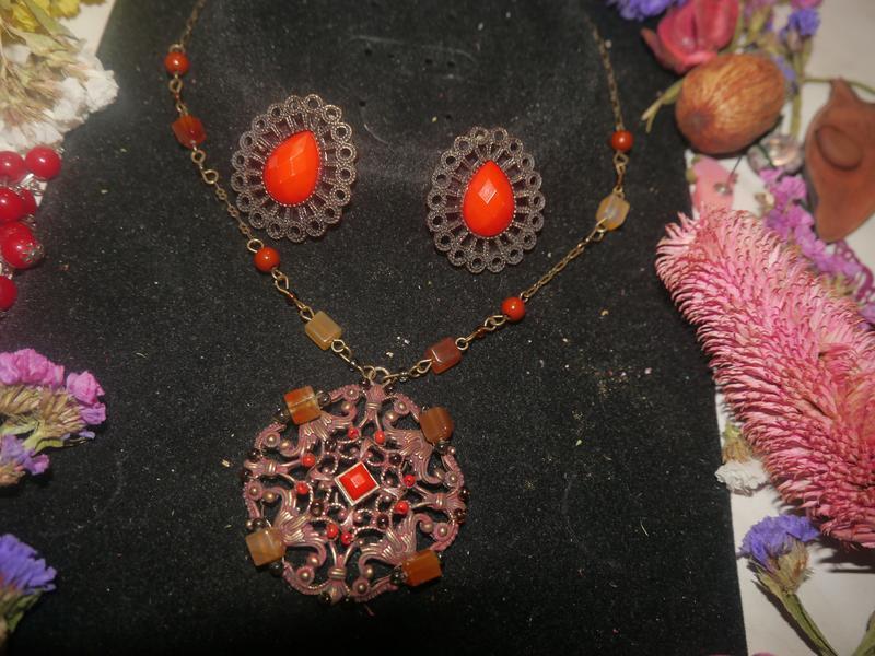 Винтажный набор ожерелье и серьги + подарок - Фото 6