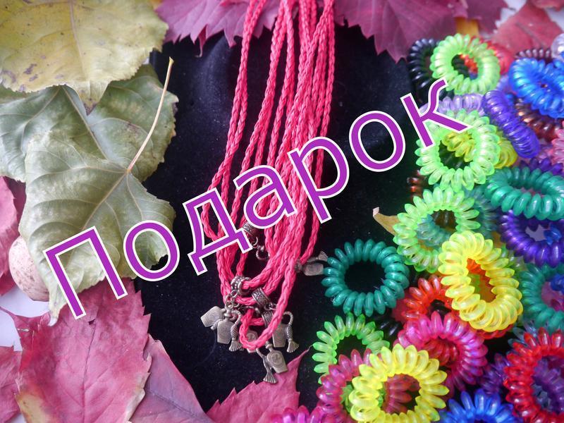 Винтажный набор ожерелье и серьги + подарок - Фото 7