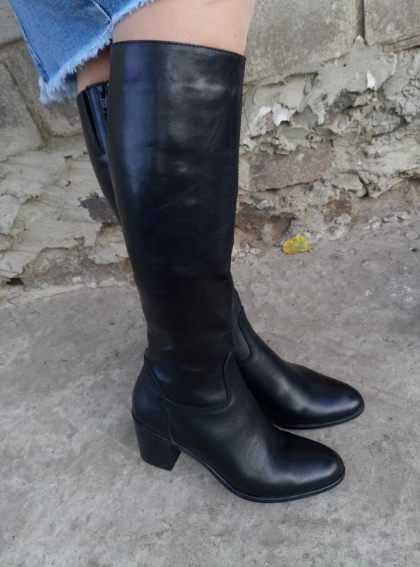 Итальянские кожаные сапоги 100%кожа раз. 38