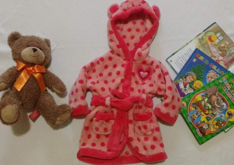 """Милый тёпленький халат с ушками """"jbc"""", 3-6 месяцев, 62 см"""