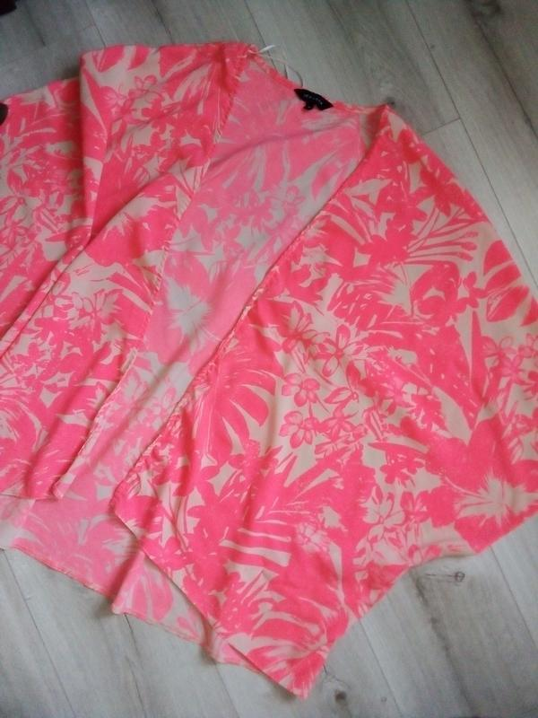 Невесомая ярко-нежная накидка кимоно - Фото 5