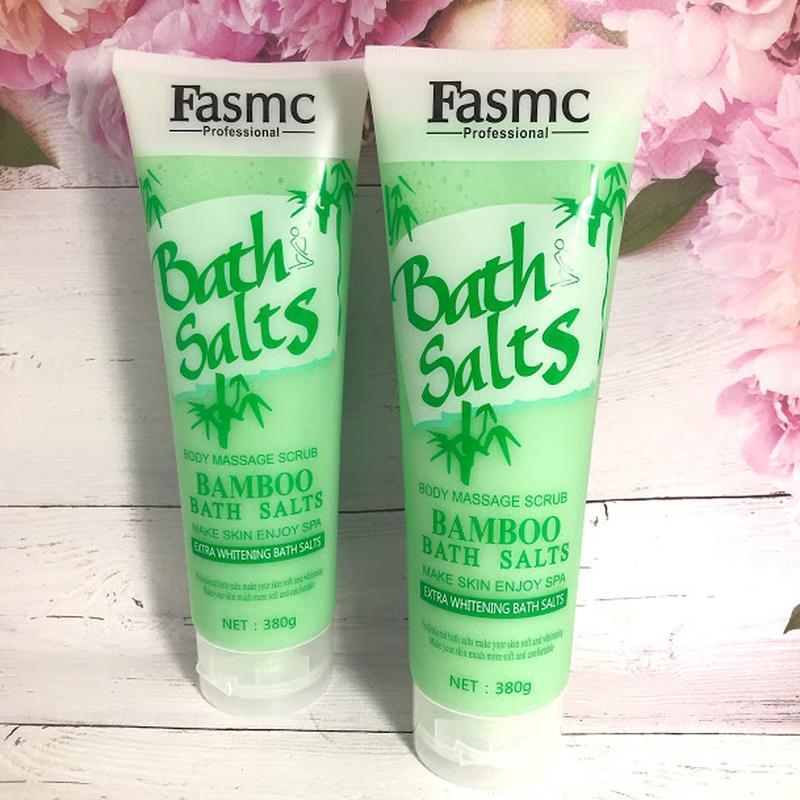Скраб- соль для тела fasmc bath salts massage bamboo (бамбук) ...