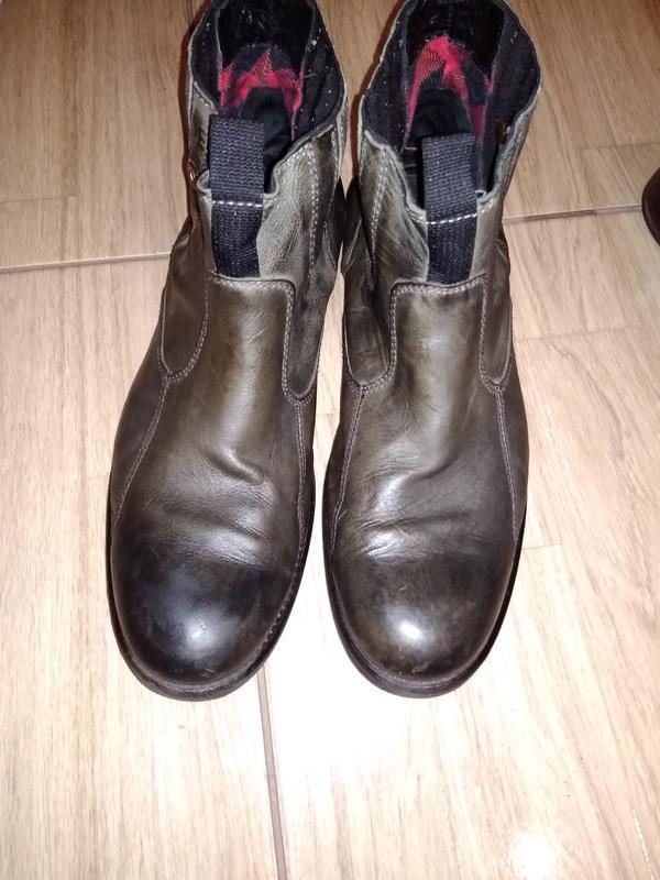 Кожаные ботинки челси 43/44 tommy  hilfiger