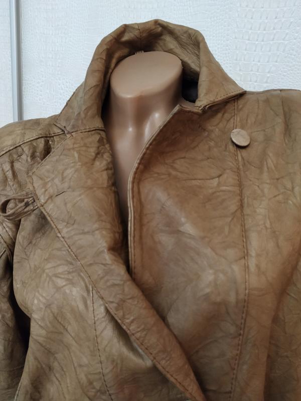 Винтажная кожаная куртка buffalo - Фото 3