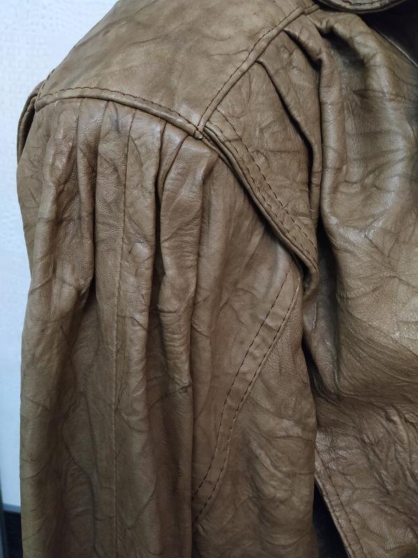 Винтажная кожаная куртка buffalo - Фото 4
