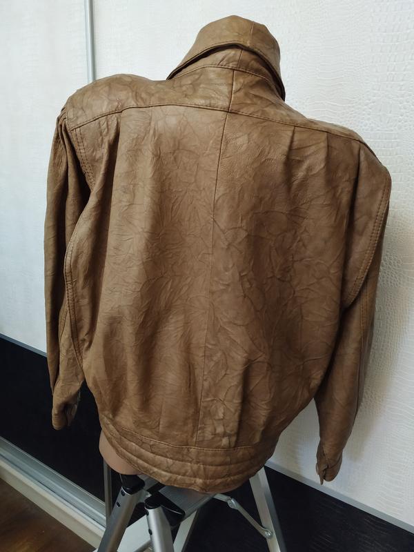 Винтажная кожаная куртка buffalo - Фото 5