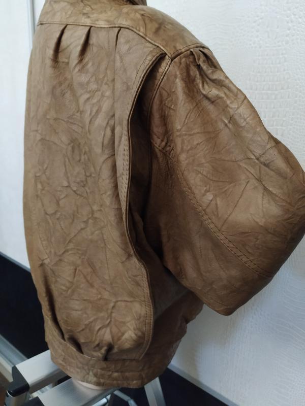 Винтажная кожаная куртка buffalo - Фото 6