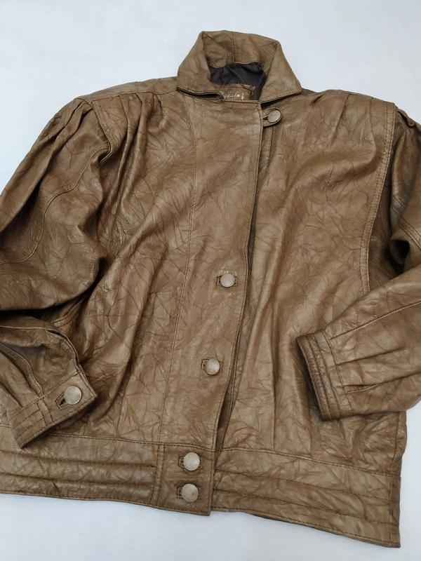 Винтажная кожаная куртка buffalo - Фото 8