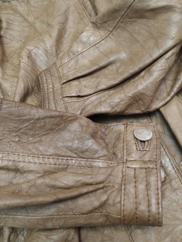 Винтажная кожаная куртка buffalo - Фото 9