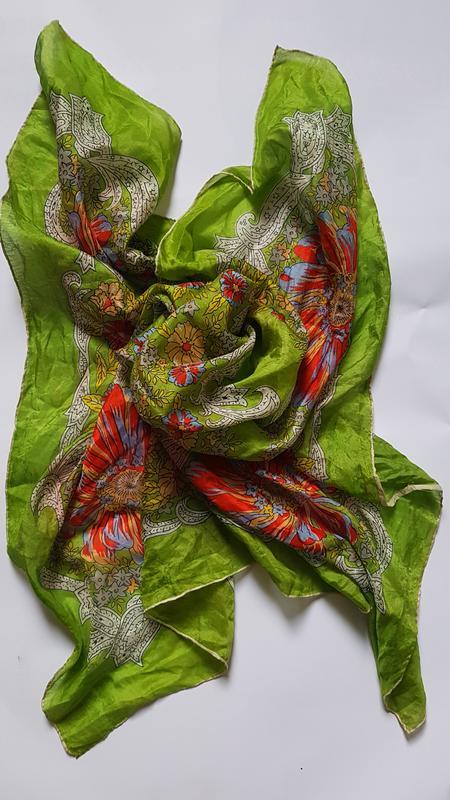 шелковый шарф шовк платок шаль