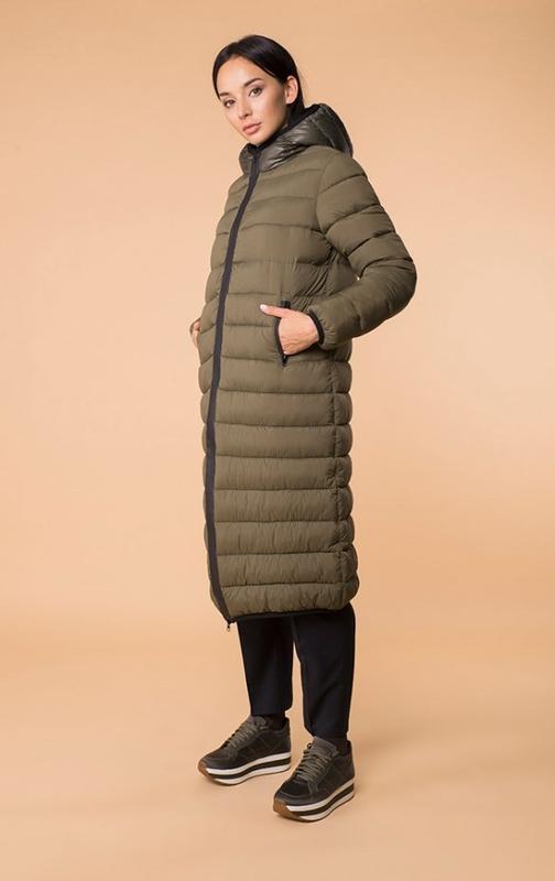 Куртка хаки стеганая зимняя теплая